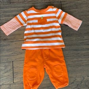 Gymboree 3-6month Fall Pumpkin Thanksgiving Outfit